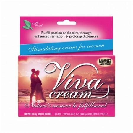 Крем VivaCream стимулирующий для женщин 30мл (3 тюбика)