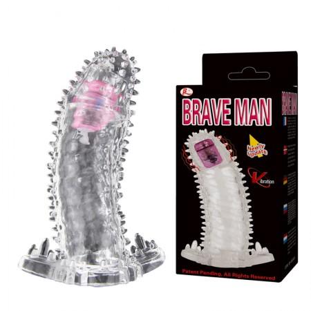 Насадка с пупырышками с вибрацией Brave Man