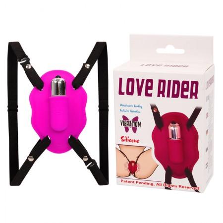 Стимулятор клитора на ремешках с вибрацией Love Rider