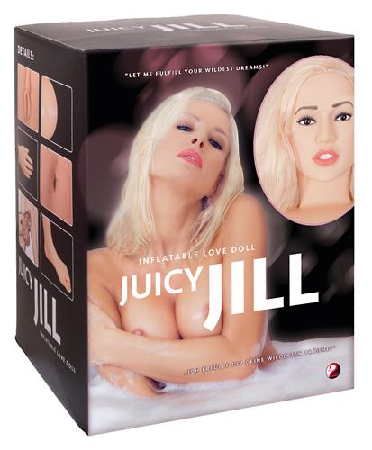 Кукла надувная с анатомическим лицом и конечностями Juicy Jill