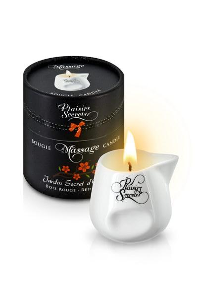 BOUGIE DE MASSAGE BOIS ROUGE 80M Свеча с массажным маслом Красное дерево 80 мл