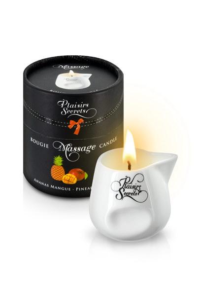 MASSAGE CANDLE PINEAPPLE MANGO 80ML Свеча с массажным маслом Манго и Ананас 80 мл