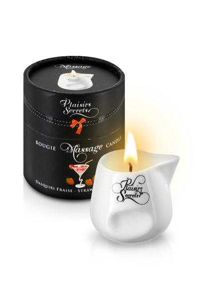 MASSAGE CANDLE  80ML Свеча с массажным маслом Клубничный Дайкири 80 мл