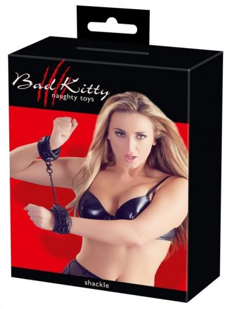 Наручники с геометрическим узором Bad Kitty Handcuffs
