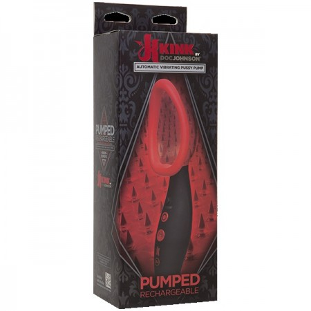 Автоматическая женская вибропомпа Kink - Pumped - Rechargeable Automatic Vibrating Pussy Pump