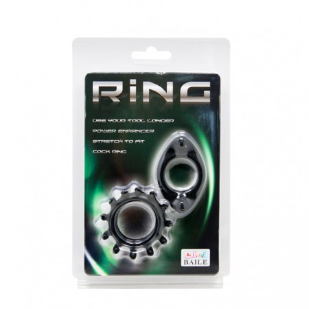 Набор эрекционных колец рельефной формы Baile Ring
