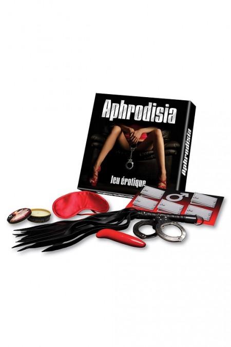 Набор для эротических игр с вибростимулятором Jeu erotique de couple Aphrodisia Ozze