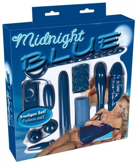 Набор секс-игрушек бирюзового цвета 9 предметов Midnight Blue Set by You2Toys