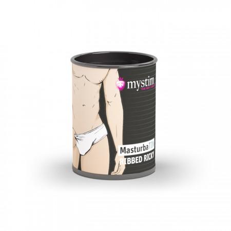 Компактный универсальный минимастурбатор мужская серия - гладкие ребрышки Mystim MasturbaTIN Ribbed Ricky - Lemalla