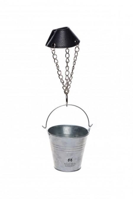 Утяжка на мошонку-парашют с грузом-ведерком Master Series Hells Bucket Ball Stretcher