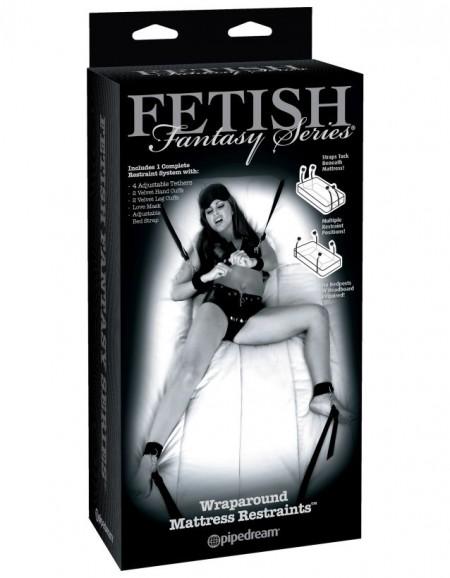 Фиксация на кровать Fetish Fantasy Series Limited Edition Wraparound Mattress Restraints - Black