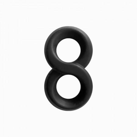 Двойное эрекционное кольцо бесконечность Renegade - Infinity Ring - Black
