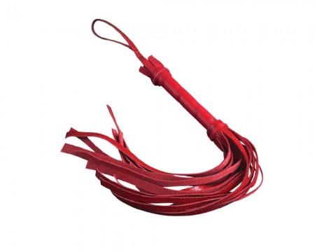 Красный флогер из велюровой кожи 22 хвоста