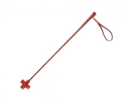 Стек плетеный (крест) красный