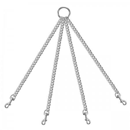 Четыре цепи на кольце с одной стороны с карабинами с другой стороны (длина 350мм)