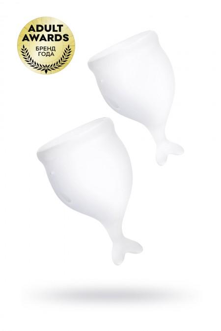 Менструальная чаша Satisfyer Feel Secure, 2 шт в наборе, Силикон, Прозрачный
